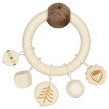 Touch ring squirrel, natural wood