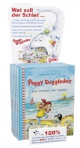 Point of Sale display with 6 books, Peggy Diggledey