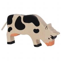 Cow, grazing, black