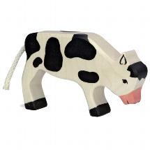 Calf, grazing, black