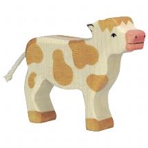 Calf, standing, brown