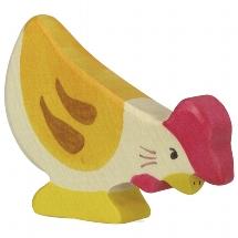 Hen, pecking