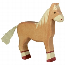 Horse, standing, light brown