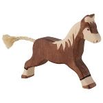 Horse, running, dark brown