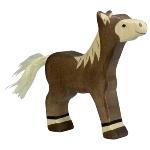 Foal, standing, dark brown