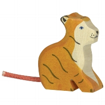 Tiger, small, sitting