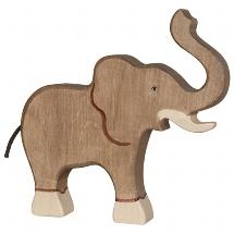 Elephant, trunk raised