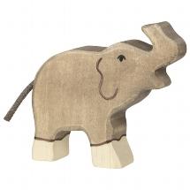 Elephant, small, trunk raised