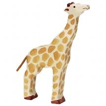 Giraffe, head raised