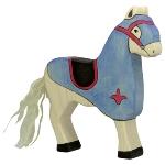 Tournament horse, blue