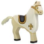 Tournament horse, white