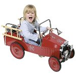 Pedal car fire engine