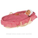 Doll's carry cradle including lining,mattress,pillow,quilt