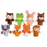 Fingerpuppet set, forest animals