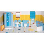 Furniture for flexible puppets, bathroom