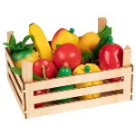 Fruit and vegetables in crate,