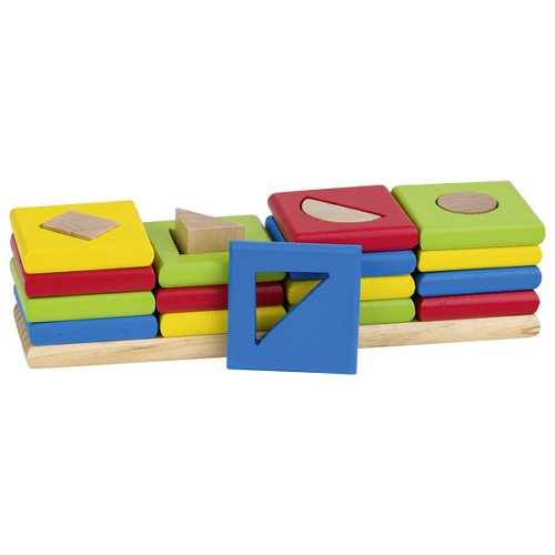 The 4 towers, shapes and colours sorting game