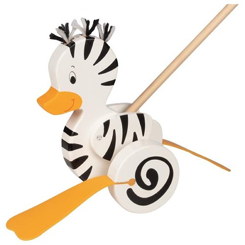 Zebra-duck, push along animal