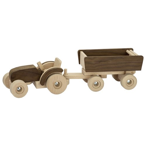 Tracteur avec remorque, goki nature