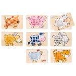 Memo game, animals patterns