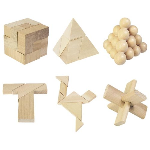 24 juegos de paciencia de madera