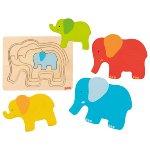 Schichtenpuzzle Elefant