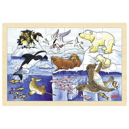 Puzzle arctic animals