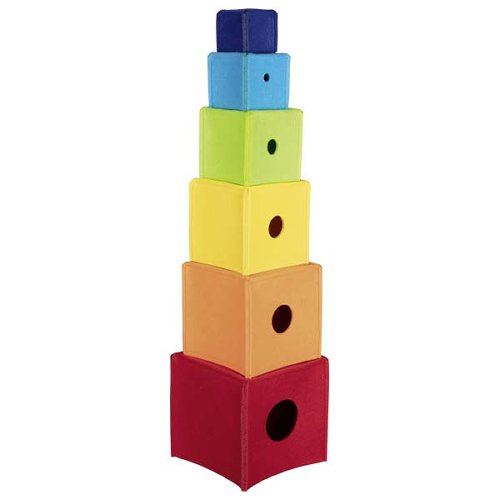 stacking cubes rainbow