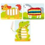 Weave patterns crocodile, dog, horse