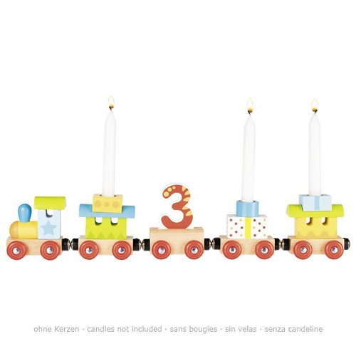 Birthday train, loco and 4 trailers, magnetic