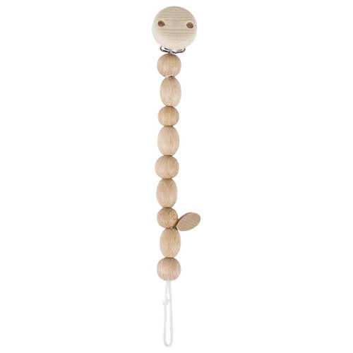 Soother chain natural wooden beads