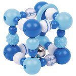 Touch ring elastic cube, blue