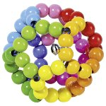 Touch ring elastic rainbow ball
