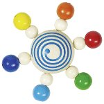 Touch ring spinning top with pearls