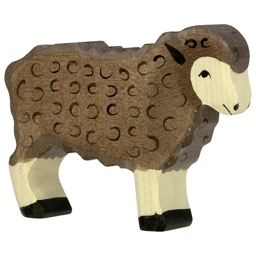 Sheep, standing, black