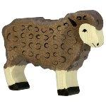 Mouton, debout, noir