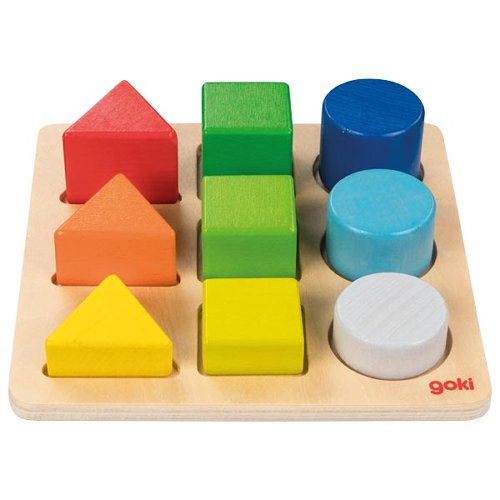 Colour and shape assorting board